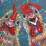 5D DIY DIY Pintura Pintura Cross Crista DE HISTORIETE VOTOR Pintura Pintura Pintura REDONES Redondas DE Rhinestones Diamante Diamante Animal (Size : 20x20cm)