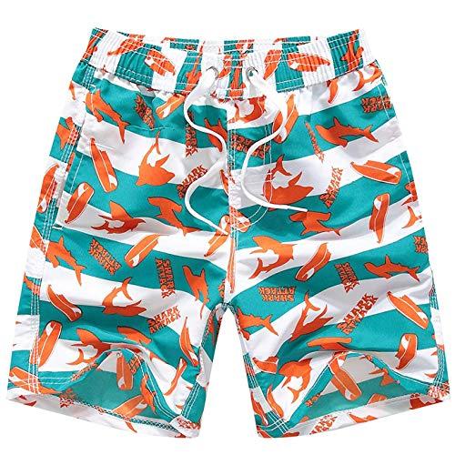 Coralup - Bañador para niños con cintura ajustable, transpirable, ligero, 12 meses a 14 años Naranja naranja 13-14 Años