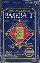 1992 Donruss Series I Major League Baseball Puzzle Cards Unopened Box - 36 Packs per box. Look for Rookies and Hall of Fame Member Cards.