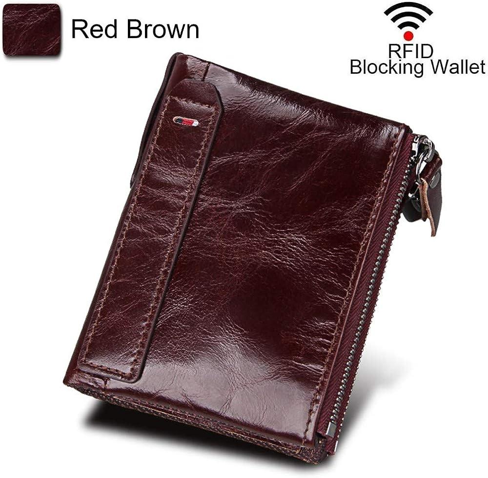 Coopay, mini portafoglio per uomo, piccolo, sottile, verticale, in pelle vera con blocco rfid COOPAYQT0047