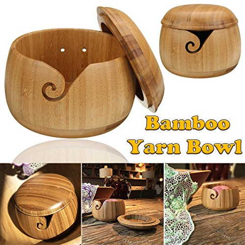 Best yarn bowl bamboo with cover for 2020