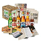 Bières du monde (6 x 0,33 l) spécialités de bières internationales à offrir (meilleures bières du monde avec coffret cadeau (bière + instructions de dégustation + brochure sur la bière + cadeaux brasserie + coffret cadeau)
