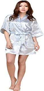 Arvin Maria 2016 New Satin Bridesmaid Robes,White Faux Silk Wedding Bridal Sisters Dressing