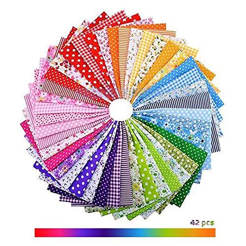 "42pcs/lot 9.8"" x 9.8""(25cm x 25cm) No Repeat Design Printed Floral Cotton Fabric for Patchwork, Manual Colorful Cloth DIY Mask Kit Material, Quilting Squares Bundles"