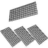 Leyouyou520 4 Pcs Aquarium Fish Tank Filter Bottom Isolate Net,Grid Divider Tray Egg Crate (11.8 x 5.9inch,Black)