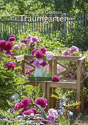 Traumgärten - Kalender 2021 - teNeues-Verlag - Art & Image - Fotokalender - Wandkalender mit bezaubernden Gärten und Platz für Eintragungen - 30 cm x 41,8 cm