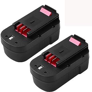 Batería de 3,6 Ah Ni-Mh HPB18 para Black and Decker 18 V batería de alta capacidad para B&D 18 V HPB18-OPE244760-00 A1718 FSB18 FS18FL Firestorm herramientas de alimentación inalámbricas 2 paquetes