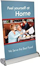 Mini Retractable Banner Stand – Table Top Banner Stand - Portable Banner Stand - Fits 11.5