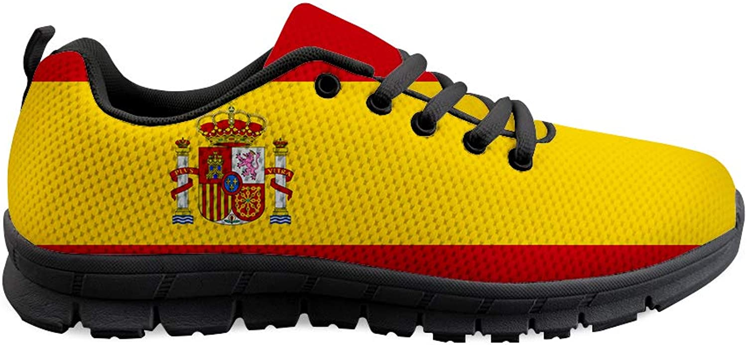 Owaheson Lace-up Sneaker Training shoes Mens Womens Spain Flag