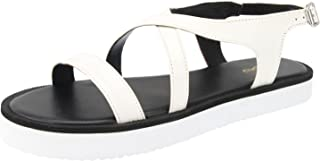 Tao Paris Women's White Synthetic Leather Wedge Sandal (2407904)