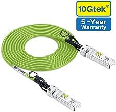 [Green Cable ] 10G SFP+ DAC Cable - 10GBASE-CU Passive Direct Attach Copper Twinax SFP Cable for Cisco SFP-H10GB-CU3M, Meraki MA-CBL-TA-3M, D-link, Supermicro, Netgear, 3m