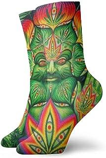 Dydan Tne, Third Eye Cannabis Leaf Weed Marihuana Calcetines Divertidos Calcetines Locos Calcetines Casuales para niñas Niños