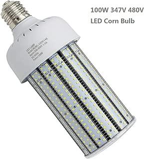 480Volt LED Corn Light Bulb 100W, E39 Mogul Base Cob Bulbs, 400 Watt Equivalent, 5000K Daylight 14500LM, Metal Halide|HID|CFL|HPS Lamp Replace Garage Warehouse Factory Parking Lot Street Area Lighting