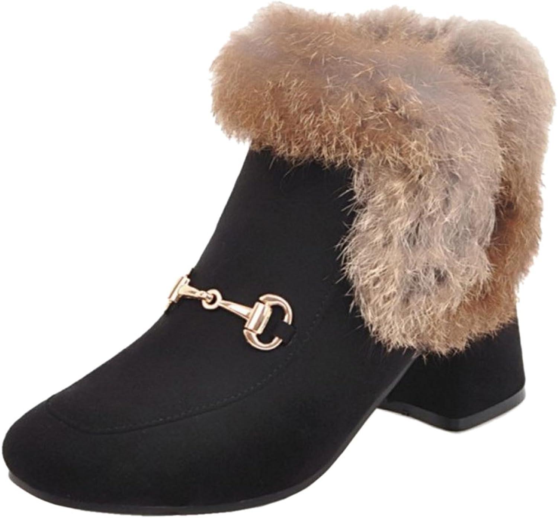 FizaiZifai Women Winter Short Boots