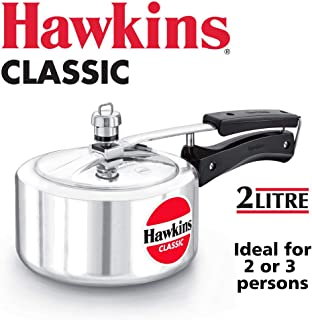 HAWKINClassic CL20 2-Liter New Improved Aluminum Pressure Cooker, Small, Silver