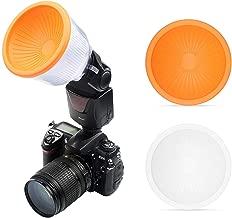 SHOOT Adjustable Lambancy Dome Flash Speedlight Diffuser for Canon 420EX 430EX 550EX 580EX 580EX II 600EX Nikon SB600 SB700 SB800 SB900 SB910 Sony