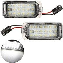 VIGORFLYRUN PARTS LTD 2pcs 18 LED Luz de Matrícula Bombilla Licencia Número Placa Lámparas de Luz para F-ORD Kuga Fiesta F-ocus M-ondeo/For XF XJ, 18 LED Canbus 12V Error Free Xenón Blanco