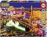 Educa Borrás-Serie Neon Fluorescent Dibujos Animados y cómic Puzzle 1.000 Piezas, Las Vegas, Brilla en la Oscuridad, Color, 300 16761
