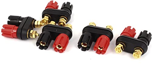 uxcell 5pcs Speaker Amplifier Terminal Dual Binding Post Banana Socket Connectors