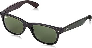 RB2132 New Wayfarer Sunglasses, Matte Black/Green Classic, 55 mm