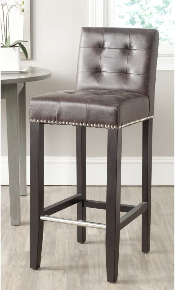 SAFAVIEH San Diego Mall Home Max 79% OFF Collection Thompson Antique Brown Faux Leather Es