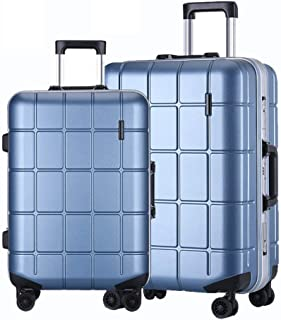 """WHPSTZ Trolley Travel Suitcase Waterproof Lightweight Lightweight 24"""" Suitcase Men and Women 20 Inch PC Business Boarding Case Trolley case (Color : Blue, Size : 24 inch)"""