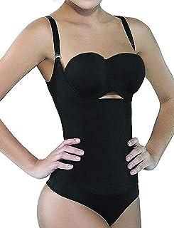 SHAPERX Women Shapewear Tummy Control Fajas Colombianas Open Bust Bodysuit Slimmer Body Shaper