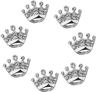 12pcs Diamante Brosche Hochzeit Party Festzug Tiara Krone Anstecknadeln