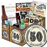 50. Geburtstag / DDR Set Männer / 50ter Geburtstag Geschenke