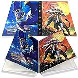 Yisscen Pokemon Kartenhalter,Sammelalbum Ordner,karten album,Pokemon Ordner Karten Album Buch 30 seitig Kann bis zu 240 Karten aufnehmen (Solgaleo)