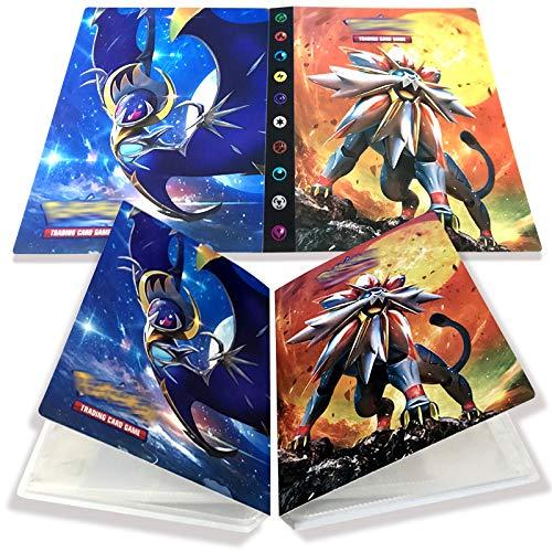 Yisscen Tarjetero Pokemon, Tarjetas coleccionables, álbum de Tarjetas, Carpeta de álbum Pokemon 30 páginas con Capacidad para 240 Tarjetas (Solgaleo)