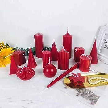 ZJL220 Moules /à Bougie pour Le Cadeau de Vacances de No/ël Bricolage Kit de Fabrication de Bougies Fournitures Paquet de 10