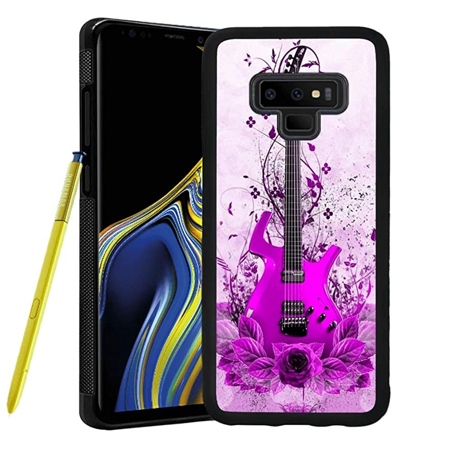 Case for Samsung Galaxy Note 9, Guitar Anti-Scratch Hard Backplate Back Cover for Samsung Galaxy Note 9 Black Shock-Proof Protective Case [Anti-Slippery]