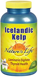Nature's Life Icelandic Kelp 41 mg Tablets | Thyroid Support Supplement with Iodine | No Gluten, Non-GMO Green Superfood |...