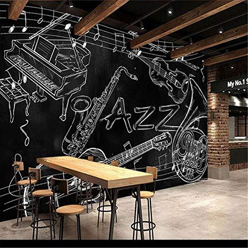 Mural Fotomural Papel Pintado Notas Musicales Pintadas A Mano Kvt Bar Restaurante Personalidad Gran Mural Papel Tapiz Telón De Fondo Sala De Estar Videos Tv Estéreo Fondo De Pantalla @ 150 * 105 Cm
