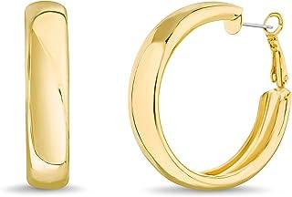 Steve Madden 41mm Yellow Chunky Hoop Earrings for Women