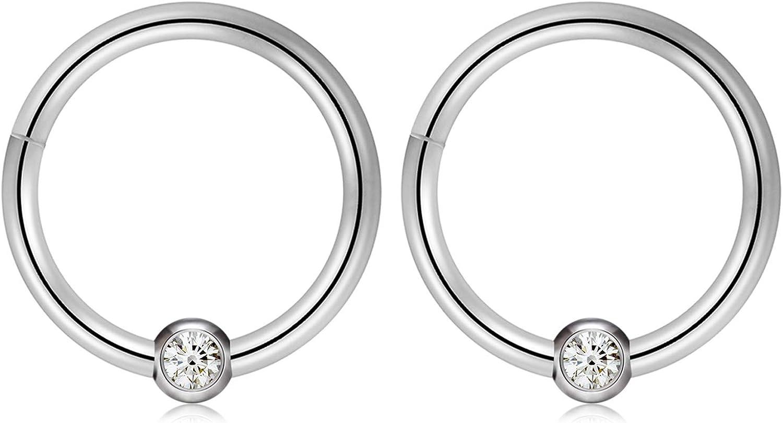 Kangyijia 16G Segment Seamless Hinged Septum 2021 spring and summer new Nose Clicker Rings Elegant