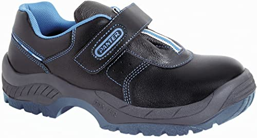 Panter 434091700 Schuhe Diamante Plus S3, Klettverschluss, Schwarz Polyurethan thermoplastisches Polyurethan, Größe 38