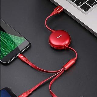 Baseus Flat 3-in-1 3.5A Lightning/Type-C/micro USB Charging Cord