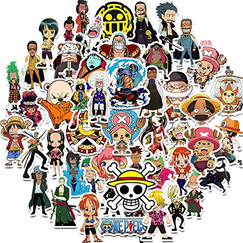 XINSHENG One Piece bauble 50 Pcs/lot Japanese Anime ONE PIECE Stickers For Notebook Motorcycle Skateboard Computer Mobile Phone Cartoon Toy Trunk