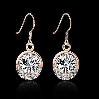 Junson Drop Earrings Home Jewelry Ebay Jewelry 925 Sterling Silver Rose Gold Round Zircon Earrings Earrings Shining Earrings