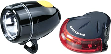 Topeak Highlite Combo II - WhiteLite II and RedLite II, Bike Light Set (Black)