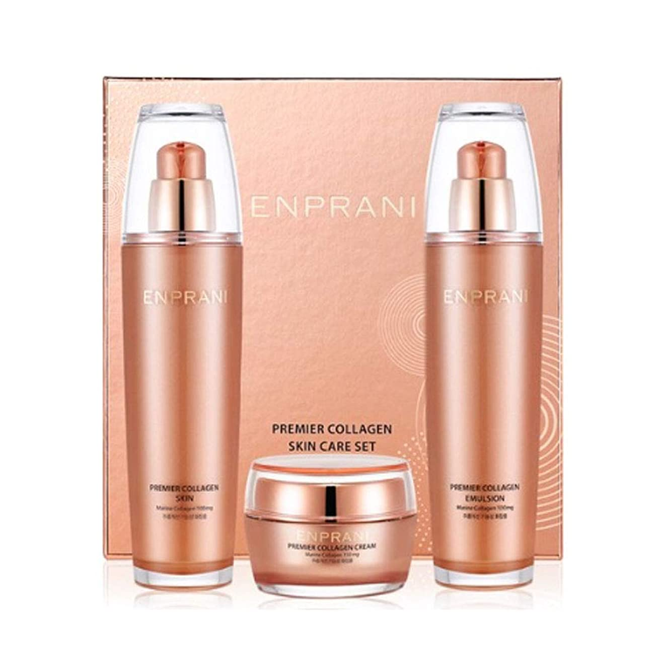 バッジ寄付掘るエンプラニ?プレミアコラーゲンセット(スキン125ml、エマルジョン125ml、クリーム50ml)、Enprani Premier Collagen Set (Skin、Emulsion、Cream) [並行輸入品]