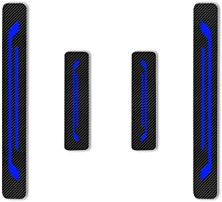F/ür Terra Tiida Maxima Qashqai Sylphy Sunny Einstiegsleisten Schutz Aufkleber,Verschlei/ß vermeiden Verhindern Sie Kratzer Rutschfest Kohlefaser 4St/ück Blau