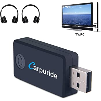 Amazon Com Bluetooth Transmitter For Tv Pc 3 5mm Rca Computer Usb Digital Audio Dual Link Wireless Audio Adapter For Headphones Low Latency Usb Power Supply Home Audio Theater
