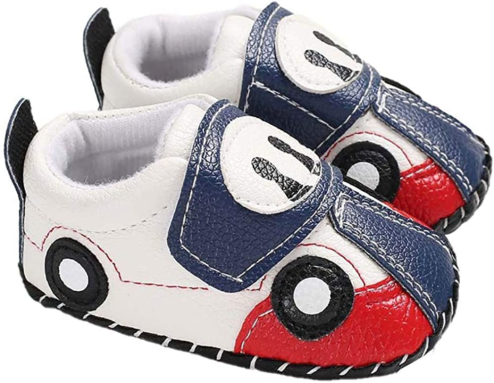 Low price Vikenner Car Los Angeles Mall Cartoon Toddler Shoes Baby Slip S Grip Anti Sneaker