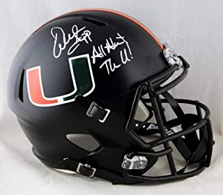 Warren Sapp Signed F/S Miami Hurricanes Black Speed Helmet W/Insc- Beckett Auth