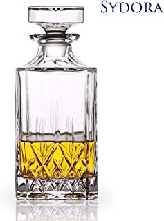 SYDORA Whiskey Decanter & Liquor Decanter - 750ml/25oz for Wine, Whisky, Bourbon, Brandy and Liquor(Yinuer)