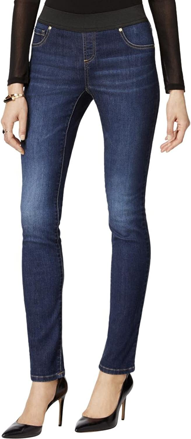 Inc Womens bluee Pull On Jeans Petites US Size  0