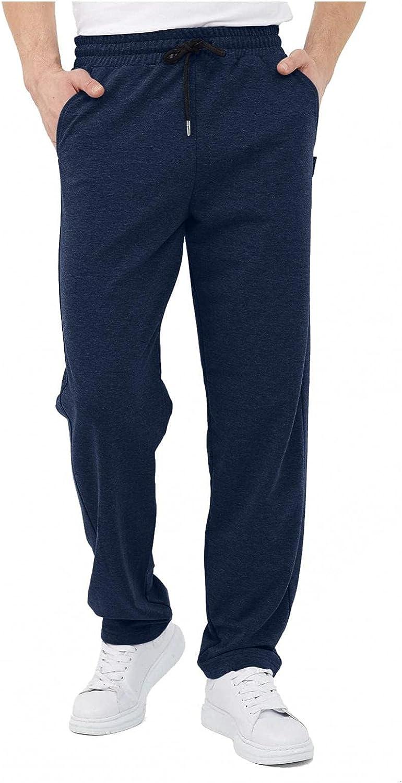 Men's Comfy Sweatpants Premium Cotton Athletic Pants Gym Workout Track Trousers Casual Slim Long Cargo Pants